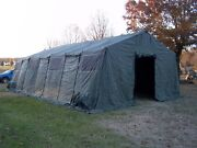 Military Tent Base- X 307 Green Easy Up 18and039 X 35and039 Garage Hunting Surplus Army