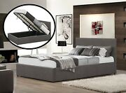 Istanbul Ottoman Bed Grey Fabric Storage Bed 3ft 4ft 4ft6 5ft Mattress Options