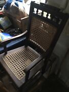 Antique Kidsand039 Walnut Rocker Rocking Chair Caned Back And Seat Over 100 Years Old