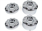 2005-2012 Ford F450 F550 4x2 19.5 Front And Rear Wheel Chrome Center Caps Set Oem