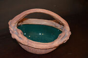 TERRAFIRMA HAND-MADE POTTERY BASKET-BOWL WITH HANDLE