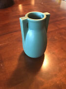 "TECO POTTERY 2-BUTTRESS VASE  6.25"" Tall   Prairie Arts & Crafts"