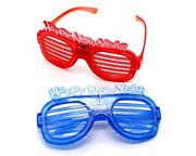 12pcs Happy New Years Shutter Led Glasses New Year's Eve