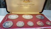Papua New Guinea Proof Set 1975 Minted At The Franklin Mint