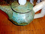 UNUSUAL Contemporary John Ransmeier Ceramic Pottery TEA POT Signed 93