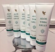 6 Pcs Tubes Forever Living Aloe Vera Gelly 4 Oz Each Tube Soothing Clear Gel