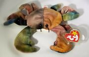 Ty Beanie Baby Claude The Crab Vhtf Retired Collectible W/ Errors 1996 Mint