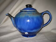 Edgecomb Potters Blue Teapot Studio Factory 2nd Maine Art Pottery