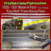 Model A Ford Frame 1/8 Easy Weld Boxing Plates 28-31