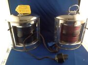 Perko Navigation. Lights Wired 110 Glass Lens Chrome Plated Brass
