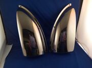 Pair Boat Side Vents Stamped Brass Chrome Plated