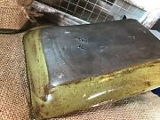 pottery, plate, green, hand made, slab work, ceramic, dish, tray
