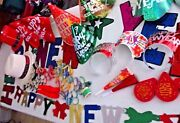 New Yearand039s Eve 12 People Kit 12 Hats 12 Noisemakers 12 Bubbles Plus More