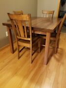 Walnut Kitchen/dining Room Table Made To Your Specs Kennedy Hardwood Custom