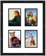 Collage Wall Picture Frame 4x6 Photos 4 Openings White Matting Frames By Mail