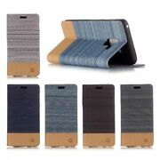 10pcs/lot Canvas Flip Leather Holster Case Stand Cover For Iphone Samsung Lg