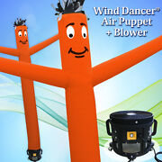20and039 Orange Wind Dancer Air Puppet Sky Wavy Man Dancing Inflatable Tube + Blower