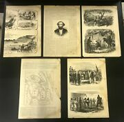 5 Double Sided Pages From The Book The Soldier In Our Civil War Printed 1890