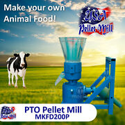 Pto Pellet Mill For Cowand039s Food - Mkfd200p - Free Shipping