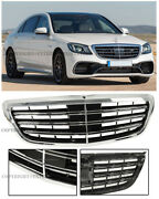 S63 S65 Amg Style Front Bumper Chrome Radiator Grille For 14-up Mb W222 S-class