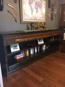 Reclaimed Antique Wood Furniture - Sideboard/bookcase With Detailed Teak Carving