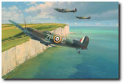 This Sceptred Isle By Robert Taylor - Aviation Art Print - Wwii - Vet. Ed