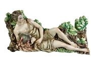 Italian Ceramic Sculpture Wall Hanging: Mercury, manner of Lenci, Petucco, Tolio