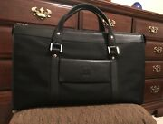 Dunhill, Woven Nylon And Leather Briefcase-black With Shoulder Strap.
