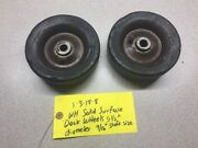 Wheel Horse Early Model Mower Deck Wheels Solid Tires 5.5and039diameter 9/16 Shaft