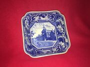 Lc2 Historical Staffordshire Dark Blue Oxford College Bowl Pritchard House 1825