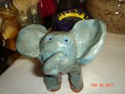 VTG HIGH SCHOOL POTTERY RED CLAY BRUTALIST BABAR TRINKET PAPERWEIGHT SCULPTURE