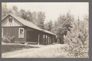 Real Photo Postcard Boulder Junction, Wisc. Wildwood Dundee And Birch Lodge Cabins