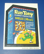 73 Wacky Packages Series 2 Wb Run Tony Red Ludlow  @@ Super Rare @@