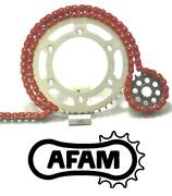 Afam Upgrade Red Chain And Sprocket Kit Kawasaki Zx12r A1-b4 00-06