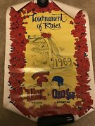 1969 Ohio State Vs Usc Rose Bowl Poster Osu National Champs