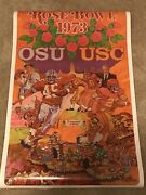 1973 And 1969 Ohio State Vs Usc Rose Bowl Posters National Champions Rare