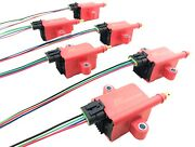 Hi Energy Ignition Coil Set Fits Imports Domestic 6 Cyl And Wire Harness Adaptor