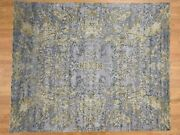 8and039x9and03910 Abstract Design Wool And Silk Hilo Pile Handknotted Rug G39550