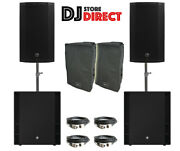 2x Mackie Thump 15 Active Powered Speaker + 2x Thump 18s Subwoofers + Cover Xlr