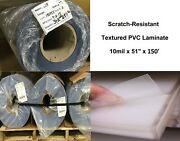 Scratch-resistant Textured Pvc Vinyl Laminate Clear Self-adhesive 51 X 150and039