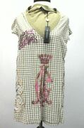 Ed Hardy Shirt Brown Houndstooth Birds Embellished V-neck Fitted Women's S