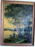 Large American Oil Painting By Carman Thomson Original Chicago Area Painter