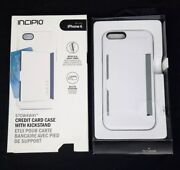 Incipio White Stowaway Credit Card Case With Kickstand For Iphone 6 6s