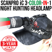 Wicked Lights Scanpro Ic 3-color-in-1 Green Red White Night Hunting Headlamp