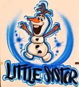 Custom Airbrushed Olaf From Frozen Design Sizes 6 Months - Adult 5xl