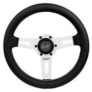 Classic Black Leather Sport Steering Wheel 315mm Luisi Sharav 315 Made In Italy