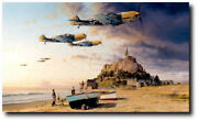 Aces On The Western Front - Me109s - Giclee Studio Proof - Aviation Art Print
