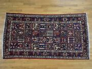 5and0395x9and0395 Semi Antique Persian Bakhtiari Oriental Wide Runner Rug G39755