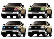 Rgb Multi-color Led Halo Ring Headlight Kit For Ford F-150 04-08