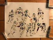 Extremely Rare Philadelphia Eagles Print Jerry Thierolf 3/25 Signed Artist